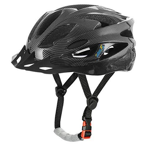 AGH Adult Bike Helmet, Mountain Bike Bicycle Helmets for Women Men, Adult Helmet with Detachable Visor (Black)