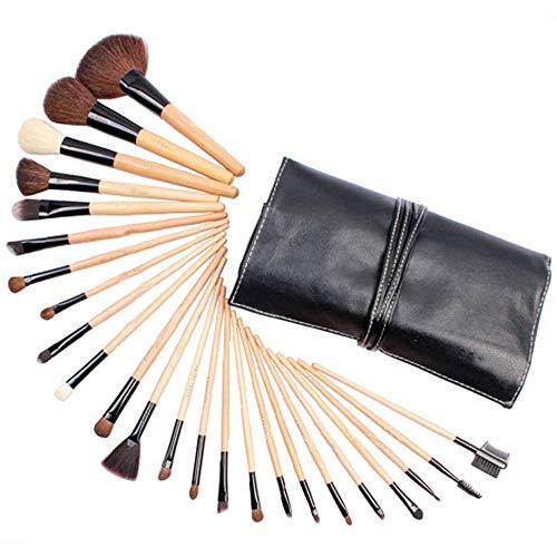 WEHQ 24pcs Maquillage Pinceaux Brosse cosmétiques pour Fond de Teint Poudre Eyeliner Fard à paupières Pinceau à lèvres pour Beau Maquillage féminin pour Les Femmes