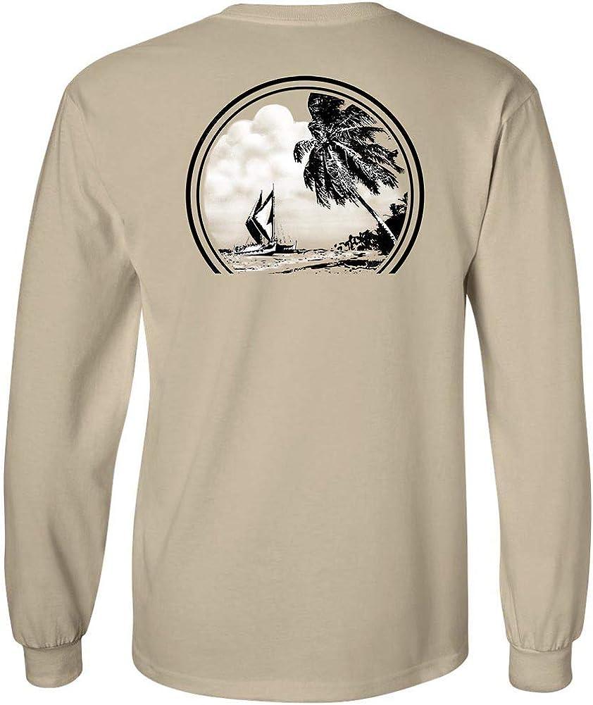 Koloa Surf Mens Hawaiian Boat Classic Logo Long Sleeve Tee in Reg, Big and Tall