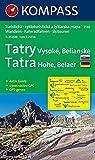 Hohe Tatra/ Vysoke Tatry: 1 : 25 000: Belaer Tatra. Wander-, Bike- und Skitourenkarte. D/SK. GPS-genau - KOMPASS-Karten GmbH
