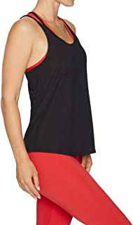Rockwear Activewear Women's Double Strap Singlet Black 6 from Size 4-18 for Singlets Tops