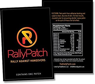 RallyPatch, The All Natural Way to Rally Against Hangovers! 5 Pack of Premium Latex-Free Patches