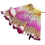 Make-up Pinsel, Nincee 20er Premium Kosmetik Make-up Pinsel Set zum Mischen von Foundation Powder Blush Concealers Textmarker Lidschatten Pinsel Kit (Rosa)