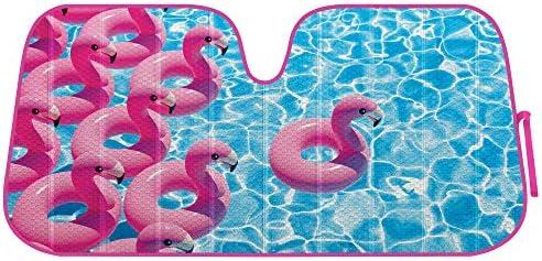Flamingo Float Front Windshield Sunshade Accordion Folding Auto Shade for Car Truck SUV Blocks product image