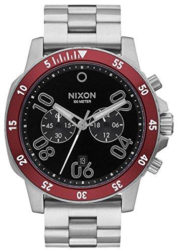 Nixon Herren Chronograph Quarz Uhr mit Edelstahl Armband A549-008-00