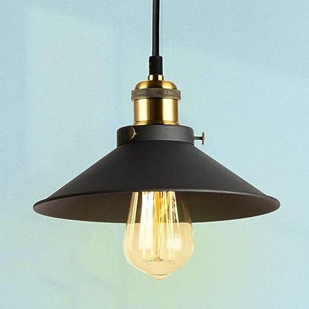 Oursun Suspension Luminaire Industrielle Noir Suspension Vintage Retro Lampe Suspendue Metal lustre Industriel Éclairage de Plafond pour Salon Chambre Cuisine Restaurant Bar Couloir
