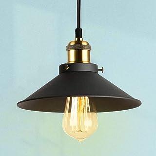 Oursun Suspension Luminaire Industrielle Noir Suspension Vintage Retro Lampe Suspendue Metal lustre Industriel Éclairage d...