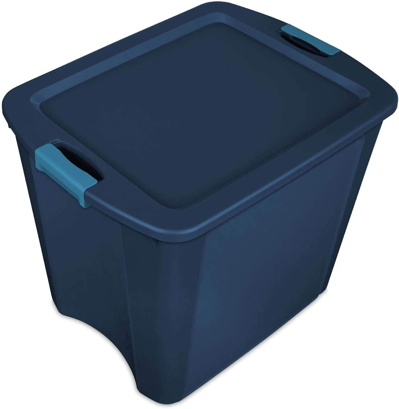 Sterilite 26 Gallon Latch and Carry Storage 14 quality assurance Blue Tote trust True