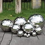 Yunhigh Mirando la Bola para el jardín, 12 cm Bola de observación pequeña Bola de Espejo del Mundo Bola Decorativa de Metal Bola de Oro de Acero Inoxidable para el jardín
