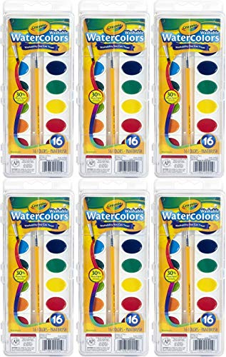 Crayola Crayola Washable Watercolors, 16 Count (Pack of 6) Total 96 Count