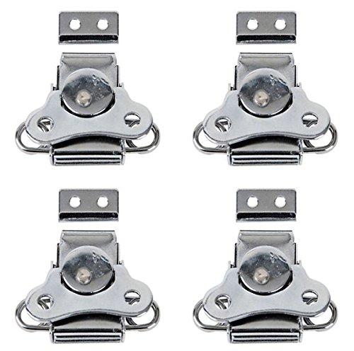 4x DAP-Schmetterling-Riegel in Silber, Verschluss für Flightcase, klein