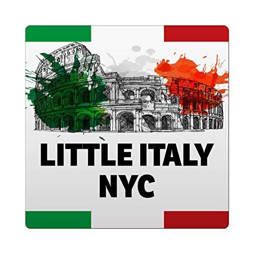 Makoroni - Little Italy NYC Italy Italian Des#1 Ceramic Tile Trivet 6x6 inc