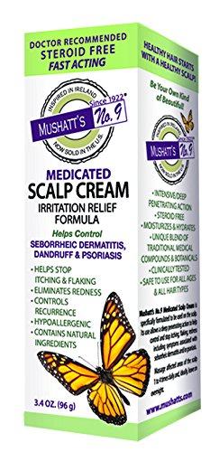 Mushatt's No. 9 Medicated Scalp Cream, 3.4 Ounce