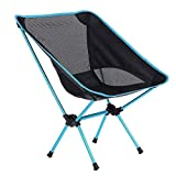 SRJ Camping Folding Chair Outdoor Portable Foldable Seat Ultra Light Sport Leisure Picnic BBQ Beach Chair [Multi Color]