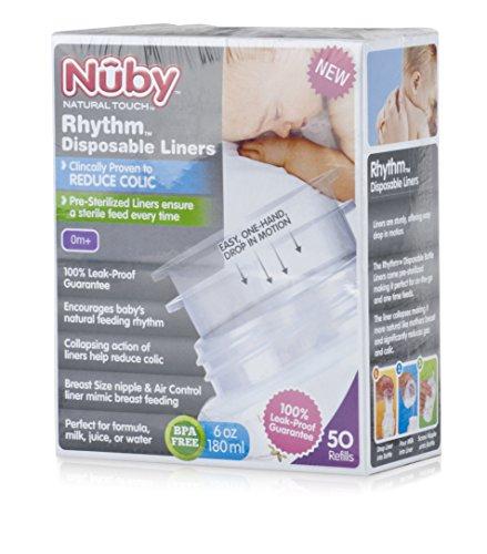 Nuby NT67744 - Pack 50 bolsas preesterilizadas
