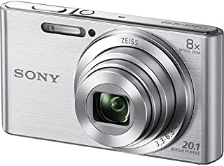 "Sony DSC-W830 Compact Digital Camera, 20.1MP, 2.7""Screen, 8X Zoom, Silver"
