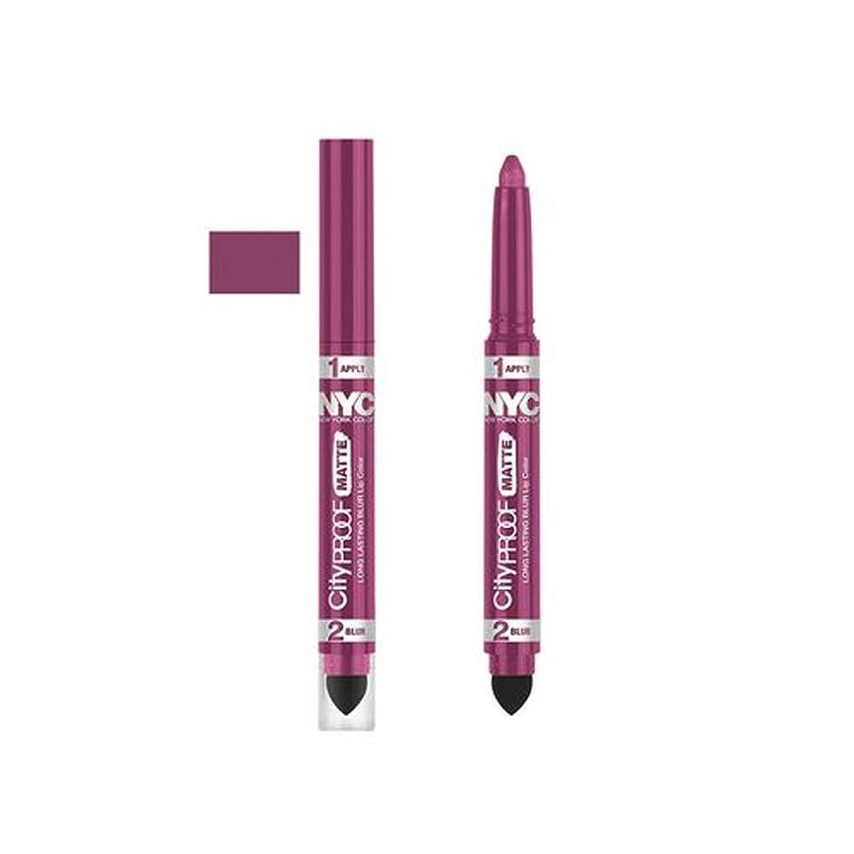 ドナーおじさん保証(6 Pack) NYC City Proof Matte Blur Lip Color - Pink City (並行輸入品)