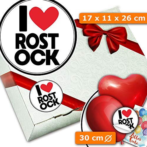 I love Rostock - Geschenkverpackung Set - Geschenke Rostock