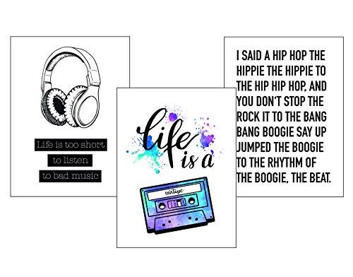 Close Up Musik Kunstdruck Set - 3 Mini-Poster - I Said A Hip Hop Mixtape - Premium Qualität 250 gr./m², matt - Hochformat 40 x 30 cm