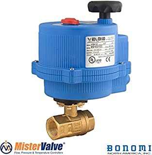Bonomi 8E064LF-00 250N 2-way Electric Actuated Ball Valve DM Lead Free Brass FP with standard ON/OFF Actuator- Size 1/2