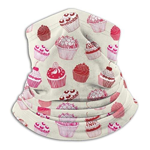 Dydan Tne Calentador de Cuello, Polaina, Cupcakes Rosados, Gorros de Microfibra Suave, Bufanda Facial, máscara para Invierno, Clima frío, para Hombres y Mujeres NCK-783