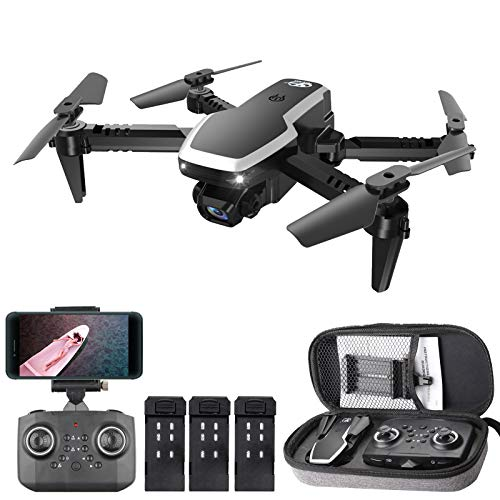 GoolRC CSJ S171 PRO RC Drone with Dual Camera, 4K HD WiFi FPV Mini Drone for Kids and Adults, Foldable RC Quadcopter with 3D Flip, Headless Mode, Altitude Hold, Storage Bag and 3 Batteries