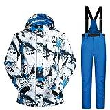 FHJGYU Ski Suit Men Winter New Outdoor Windproof Waterproof Thermal Snow Jacket and...