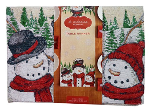 Christmas Winter Snowman Table Runner, 13