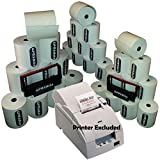 EPOSBITS® Brand **ESSENTIALS PACK** Para impresoras Epson TM U220 TM-U220 TMU220 EPOS (30 rollos + 2 cartuchos de tinta)