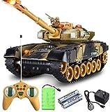 44CM Super Grande Simulación Inteligente Segunda Guerra Mundial Defensa Aérea Tanque de Control Remoto RC Carro Militar Tanques Panzer controlados por Radio con Sonido Torreta Giratoria y AC