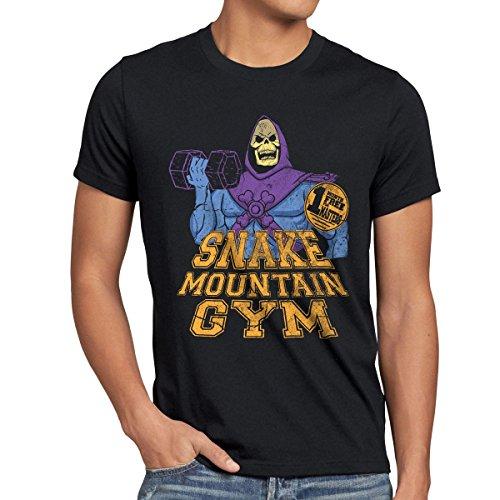 style3 Snake Mountain Gym Herren T-Shirt, Größe:XL;Farbe:Schwarz