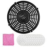 Air Fryer Rack & Replacement Grill Pan, ZEALFOXE Non-Stick Fry Pan Crisper Plate Suit For Gowise, Powerxl,...