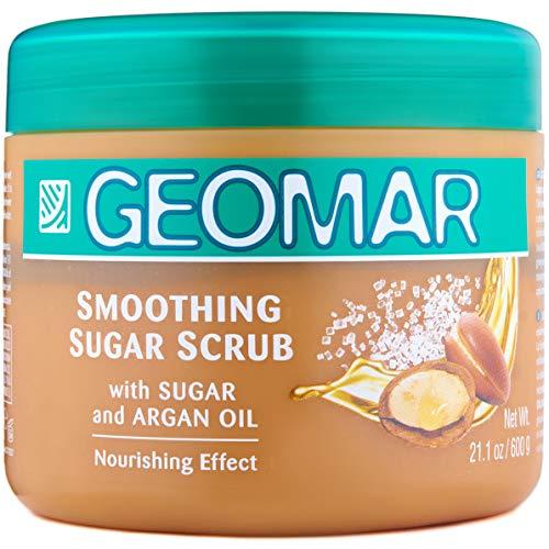 Geomar Sugar Scrub 600g mit Salz, Zucker und Arganöl Anti Cellulite Körperpflege - enthält nur natürliche Inhaltsstoffe - Peeling Körperpeeling - glättet und pflegt