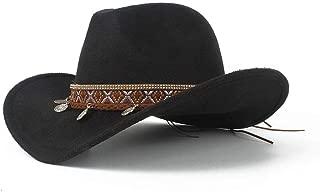 SHENTIANWEI Men Women Wool Western Cowboy Hat Winter Outdoor Casual Hat Wide Brim Church Hat Sombrero Hat Size 56-58CM