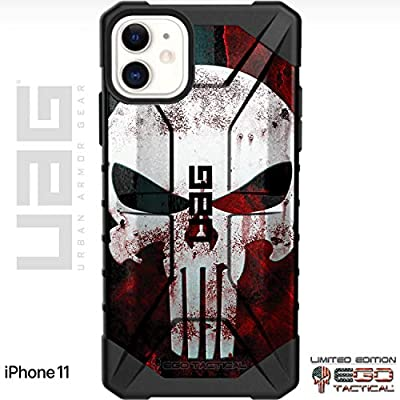 "UAG Apple iPhone 11 [6.1"" Screen] Limited Edition Case Urban Armor Gear by EGO Tactical - Black, Bloody Punisher"