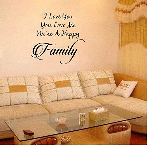 DIY pegatinas de pared pegatinas de personalidad creativa Te amo, me amas, somos una familia feliz decoracion de pared PVC57Cmx55.1Cm
