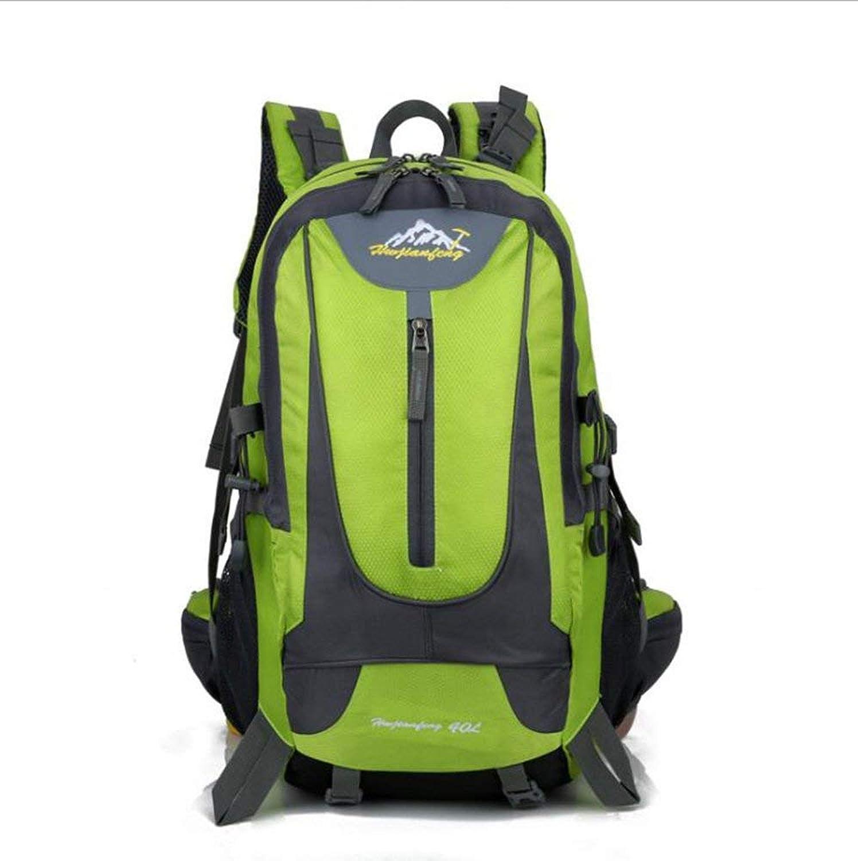 Lounayy Rucksack Outdoor Sport Sporttasche Wasserdichte Mode Stylisch Wandern Freizeit Bergsporttasche (Farbe   Grün, Größe   One Größe)