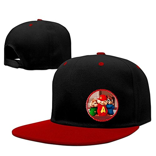 XCarmen Alvin and The Chipmunks Movie Dave Printed Hiphop Cap Red