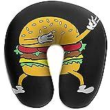 Forma De U Almohada,Dabbing Dab Burger Funda Lavable para El Cuello,Almohada para La Cabeza del Cuello para Avión,Cama,Tren,Autobús,Automóvil,Oficina