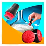 2PCS Magnetic Spot Scrubber, Industrial Cleaning Glass Brush Spot Bottle Magnetic Brush Rubber Scrubber Kit for Home, Office, etc