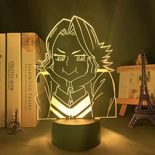 Lámpara 3D Anime Mi Héroe Academia Yuga Aoyama Lámpara para Dormitorio Decoración Regalo de Cumpleaños No Puede Parar Twinkling LED Luz de Noche