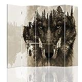 Legendarte - Biombo - Separador para interiores Wolf Forest 180 x 180 cm (5 paneles)