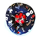 Puppy Bumpers Whimsical Dogs -Made in USA Puppy Bumpers 100% Cotton Stuffed Safety Fence Collar to Keep Your pet Safely on The Right Side of The Fence. (10-13')