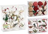 BRUBAKER - Suspensions pour Sapin de Noël - 9 Pièces - Boules remplies & Transparentes en Acrylique - Décoration de Noël Traditionnelle - Ø 10 cm
