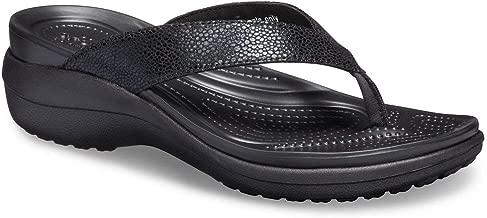 Crocs Women's Capri Metallictext Wedge Flip Flop