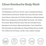 emerginC Scientific Organics Citrus-Kombucha Body Wash - Gentle Body Cleanser with Aloe, Spirulina + Tea (6.7 oz, 200 ml… 6