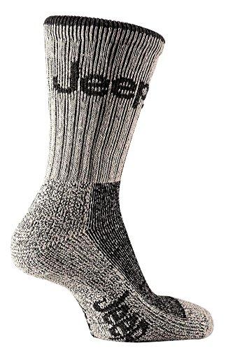 Jeep - Lot de 3 paires de chaussettes montantes - randonnée/escalade/vélo - homme - crème/gris - EU 39-45