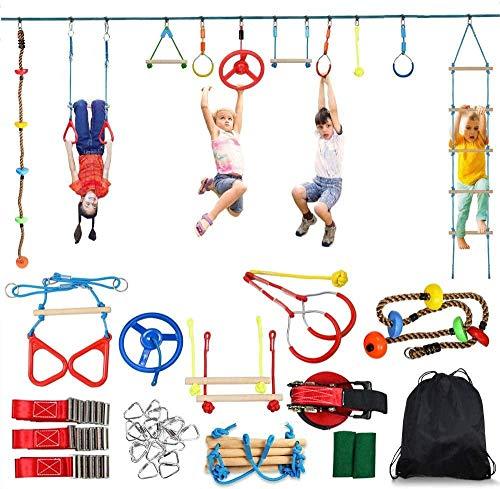 YYXT Slackline Hindernisse für Kinder Klettertau für Anfänger Ninja Line Set zum Aufhängen