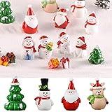 Weihnachtsaccessoire aus Kunstharz, für Puppenhaus, Feengarten, Miniatur-Schneemann, Weihnachtszubehör, Weihnachtsbaum, Weihnachtsmann-Figuren (Schneemann 6) - 4