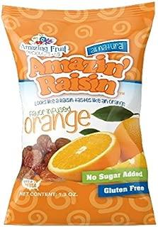 Amazin' Raisin Orange Flavor Infused Raisins Snack Pack 12 Count